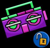 Purple boombox