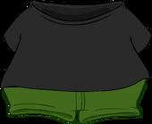 Black T-Shirt clothing icon ID 4972