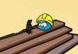 Blue worker