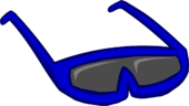 Blue Sunglasses clothing icon ID 107 2