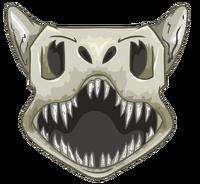 Casco prehistorico icono