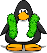 Green Feather Boa from a Player Card