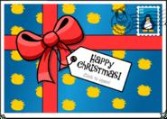Happy Christmas Postcard closed