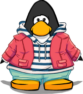 Striped Hoodie and Jacket On Player Card