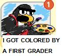 Colored by a first grader