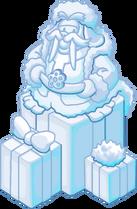 Merry Walrus Snow Sculpture