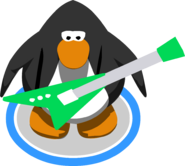 Electric Green Guitar in-game
