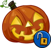 Glowing Pumpkin Head clothing icon ID 1323