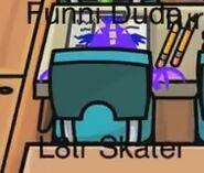 L8tr Skater disfrazado de Dragón