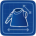 Blueprint Uneven Sweater icon