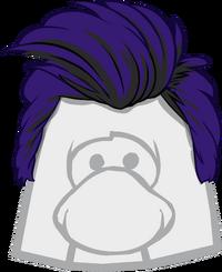 Cabello Azul con Tupé icono