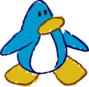 Doodle Dimension penguin Light Blue