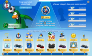 Interfaz de la Copa Club Penguin calamares