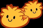 Pantuflas de Puffle Naranja icono