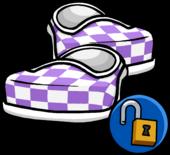 PurpleCheckeredShoes