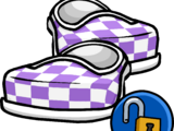 Purple Checkered Shoes (ID 16041)