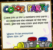 Color party anuncio