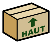 Cardboard Box pin icon fr