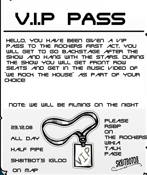 Vip Pass.PNG  Free Vip Pass Template