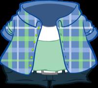 Camisa a Cuadros Celeste icono