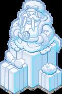 Escultura de Nieve Hermosa Morsa 2