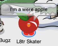 L8tr Skater: Soy una pingui-manzana