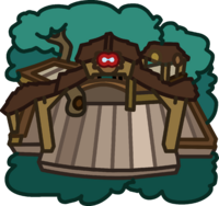 Brown Puffle Tree House icon