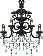 Iron Chandelier furniture icon ID 653