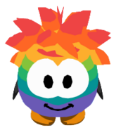Rainbow Puffle Costume ingame