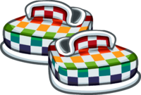 Zapatos a Cuadros Multicolor icono
