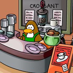 Resultado de imagem para barista do café club penguin