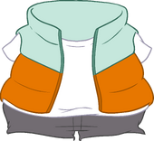 Orange Puffer Vest icon