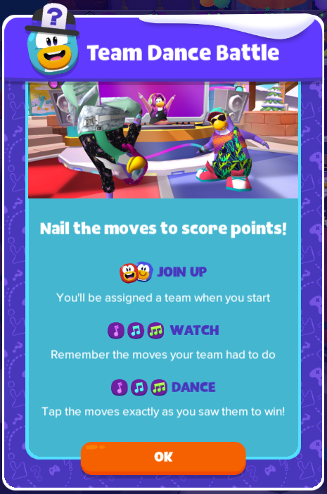 Image Team Dance Battle Instructionsg Club Penguin Wiki