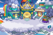 Rainbow Puffle Party Center