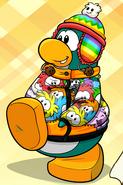 Penguin with Rainbow Puffle Toque
