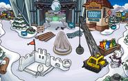 Construccion fuerte nevado