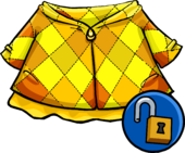 Golden Quilted Coat clothing icon ID 14363