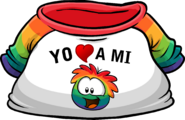I Heart My Rainbow Puffle T-Shirt icon es