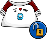 I Love My Puffle T-Shirt clothing icon ID 10205