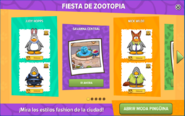 Interfaz de Zootopia
