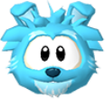 Blue dog 3d icon