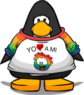 Camiseta Yo Amo a mi Puffle Multicolor carta