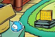 Pin puffle azul
