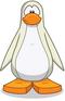 Pinguino blanco antártico