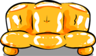 Orange Inflatable Sofa sprite 001