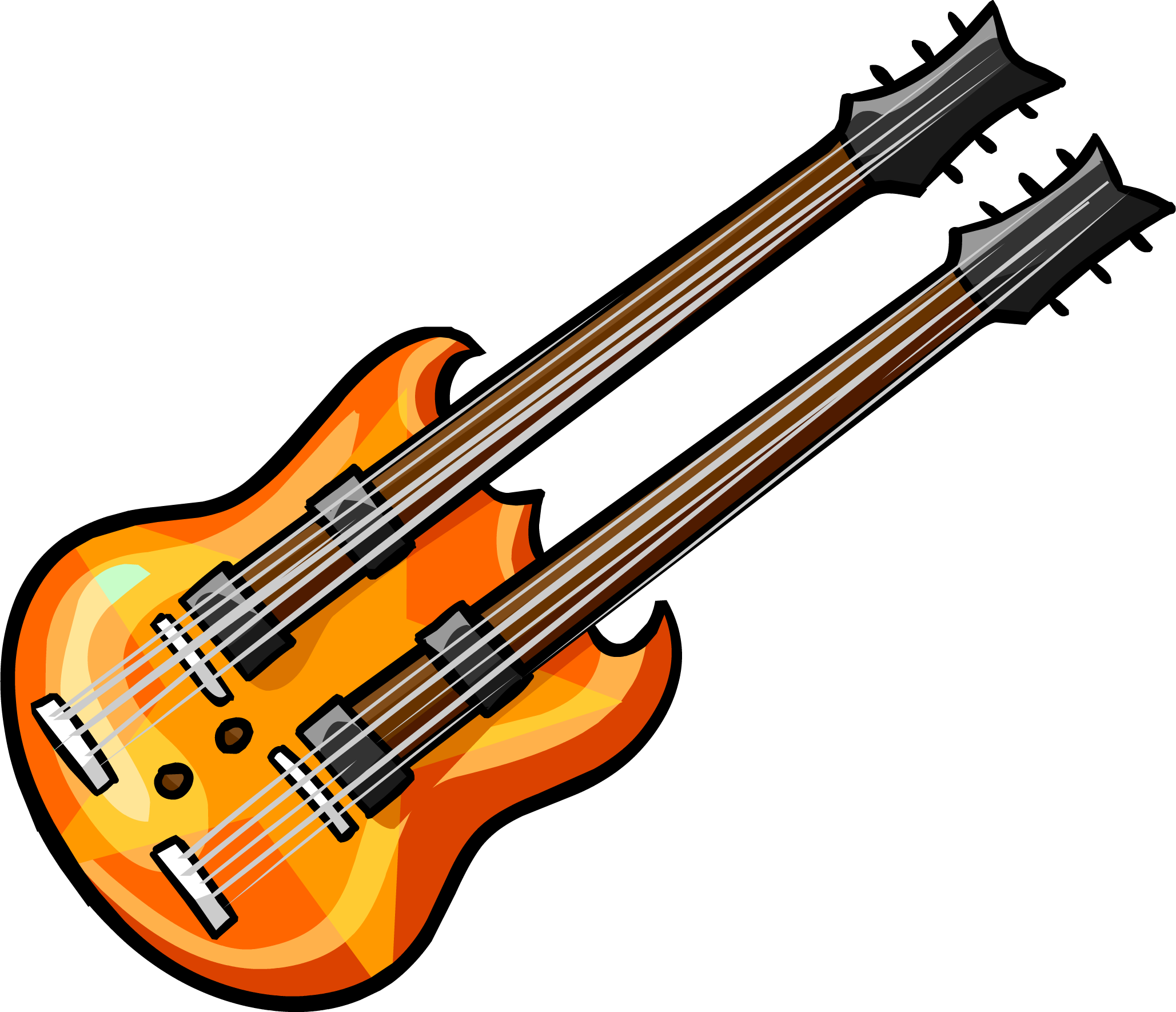 Image result for club penguin orange guitar