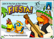 Winter Fiesta postcard
