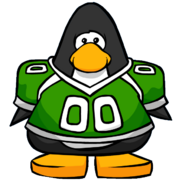 Green Football Jersey from a Player Card