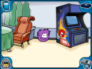 Purple puffle Dance Lounge