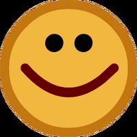Button Down Happy Face